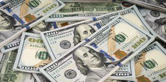 Foto de muitas notas de dólar espalhadas. Todas elas estão bastante novas.