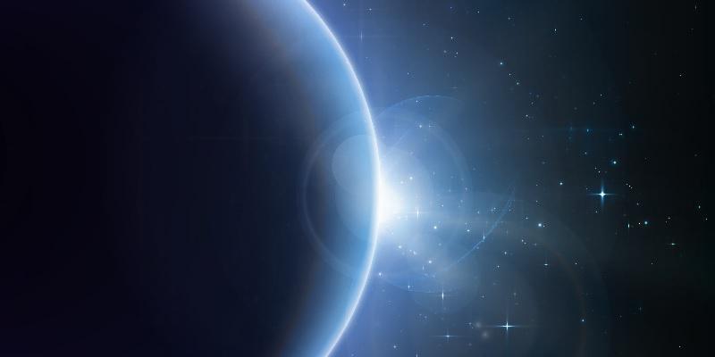 Foto do espaço mostrando as estrelas de onde vem a Grande Fraternidade Branca, que ajuda na Mesa de Cura Diamante PB.