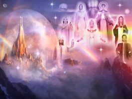 Mestres Ascensionados estão reunidos em outra dimensão ao redor da Terra.