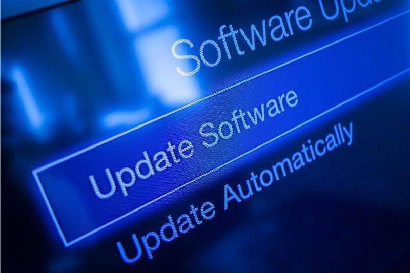A segurança digital também depende da atualização dos softwares.